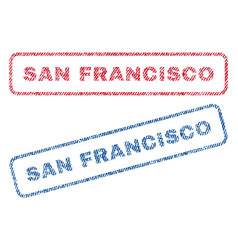 San francisco textile stamps vector