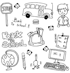 School education doodles art vector image