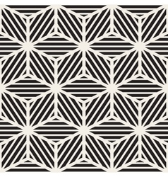 Seamless Black And White Cube Lines Grid vector