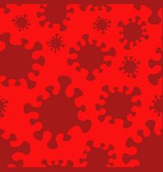 Seamless pattern with coronavirus silhouettes vector