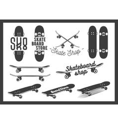 Set of skateboard emblems labels badges vector