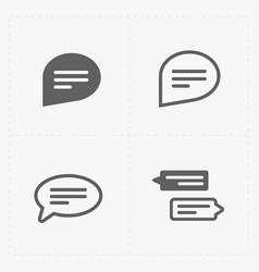 Speech bubble icons vector