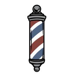 Striped barber metal pole vintage concept vector