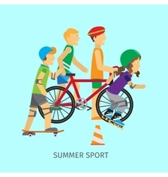Summer sport Active way of Life Conceptual Banner vector image