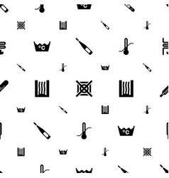 temperature icons pattern seamless white vector image