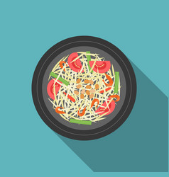 Thai food som tam papaya salad vector