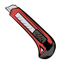 utility knife icon cartoon vector image