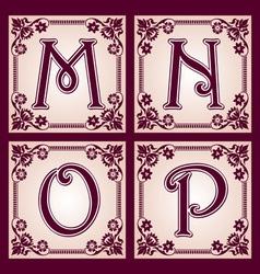 vintage ABC Part 4 vector image
