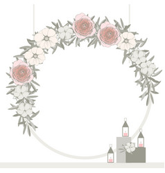 Wedding arch with flowers vector