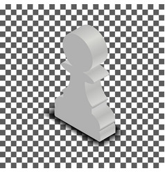 white chess piece pawn isometric vector image