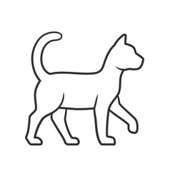 Witch cat linear icon thin line sorceress pet vector
