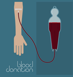 blood donation concept vector image