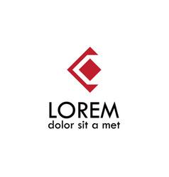 letter c geometric logo vector image