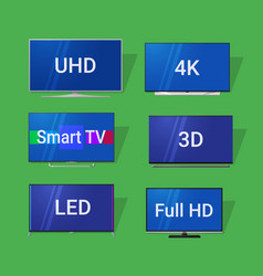 modern tv flat icons vector image
