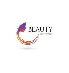 Beauty company logo vector image vector image
