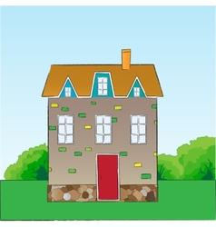 Cartoon style house vector image