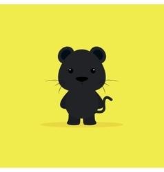 Cute Cartoon Panther vector image