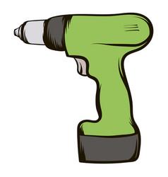 Drill icon cartoon vector