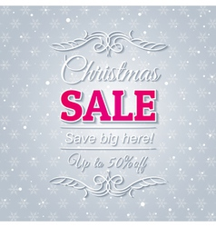 grey christmas background and sale offer vector image vector image