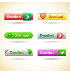 Rectangle web buttons set vector image