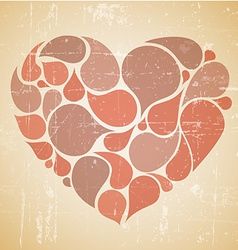 red abstract retro heart vector image