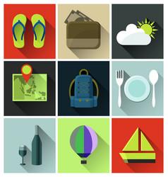 travel flat icon vector image