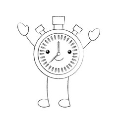 cartoon chronometer countdown speed timer object vector image