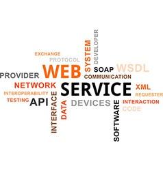 word cloud web service vector image vector image