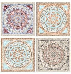 Antique mosaic vector image vector image