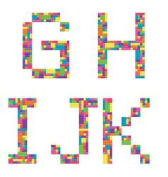 g h i j k alphabet letters from children vector image