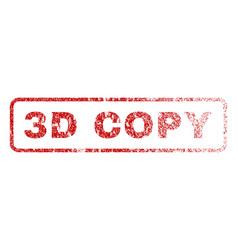3d copy rubber stamp vector image