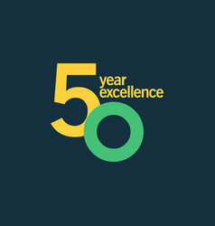 50 year excellence template design vector image