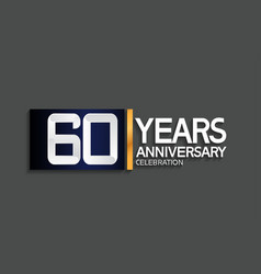 60 years anniversary logotype with blue vector