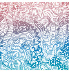 Abstract pattern background with waves ornament vector
