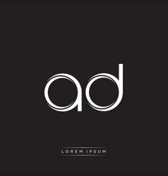 Ad initial letter split lowercase logo modern vector