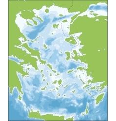 Aegean Sea map vector