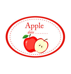 apple label disign isolated on white vector image