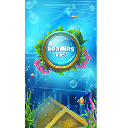 atlantis ruins - mobile format loading screen vector image