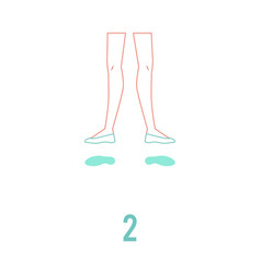 ballerina feet in pointe vector image