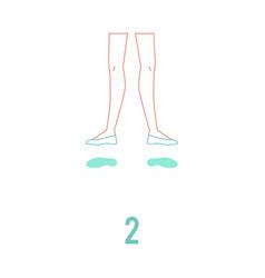 Ballerina feet in pointe vector