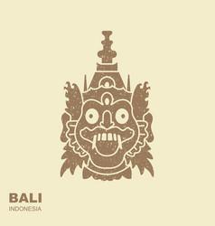 barong traditional ritual balinese mask flat vector image
