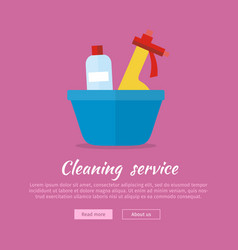 basin with washing cleaners glass clean substance vector image