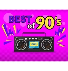 Best of 90s vector image