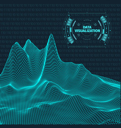 Big data visualization background 3d data vector