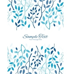 Blue forest vertical double borders frame vector