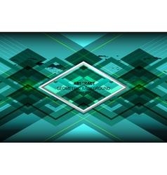 Blue ocean geometric background vector