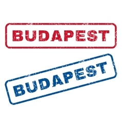 Budapest Rubber Stamps vector
