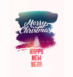 calligraphic vintage christmas card vector image