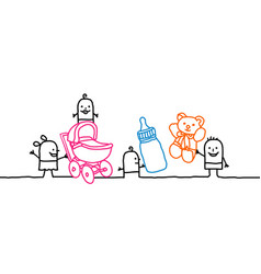 Cartoon kids and nursery vector