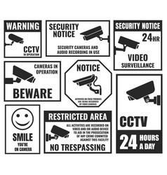 cctv symbols security camera sticker video vector image